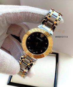Đồng hồ Versace Daphnis Nữ dây demi mặt đen cao cấp