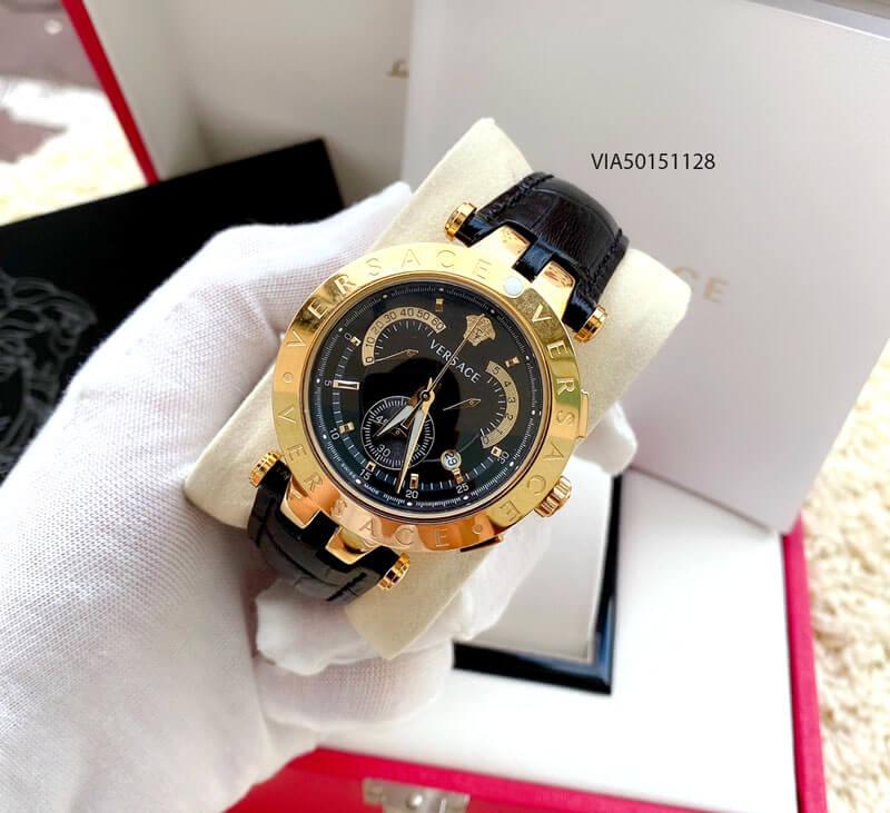 Đồng hồ Versace V- Race nam dây da cao cấp