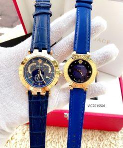 Đồng hồ Versace nam dây da màu xanh Versace V Race