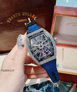 Đồng hồ Franck Muller Yachting Nam dây cao su bọc da