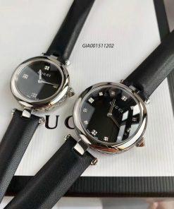 Đồng hồ Gucci Women's Diamantissima dây da đen cao cấp