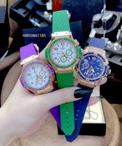 Đồng hồ Hublot nữ Big Bang Diamond 5 kim dây cao su