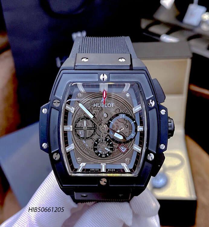 Đồng hồ Hublot Nam Senna Champion 88 dây cao su đen
