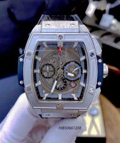 Đồng hồ Hublot Nam Senna Champion 88 dây cao su bọc da màu đen