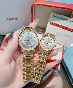 Đồng hồ cặp Omega Couple dây thép không gỉ