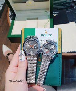 Đồng hồ Cặp Rolex Cơ dây thép không gỉ cao cấp