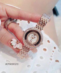 Đồng hồ Royal Crown nữ viền đính đá cao cấp