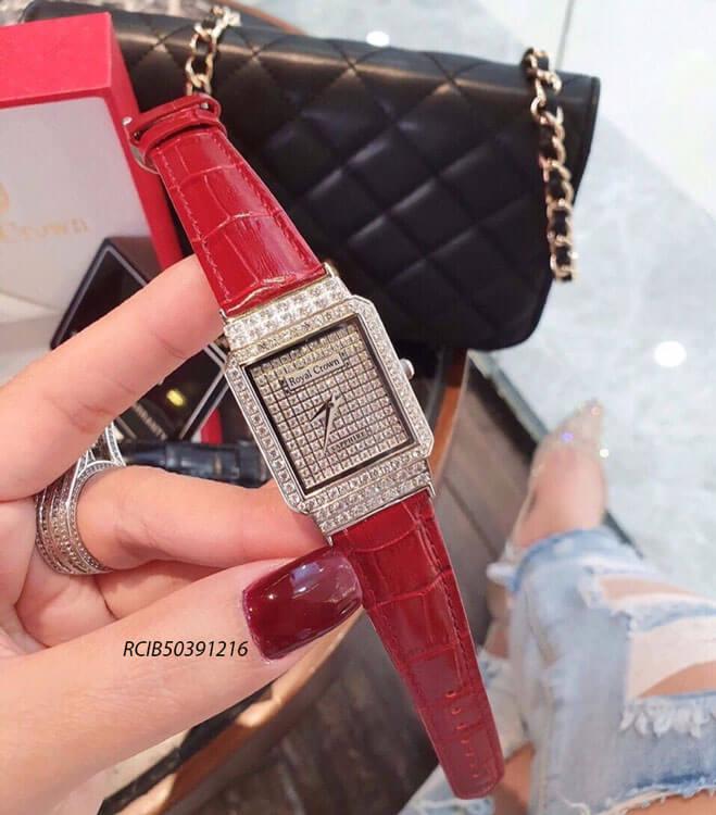 Đồng hồ Royal Crown nữ dây da cao cấp