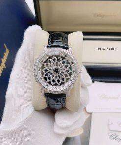 Đồng hồ Chopard Angelia nữ đính đá dây da cao cấp