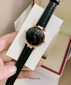 đồng hồ dior dây da đen