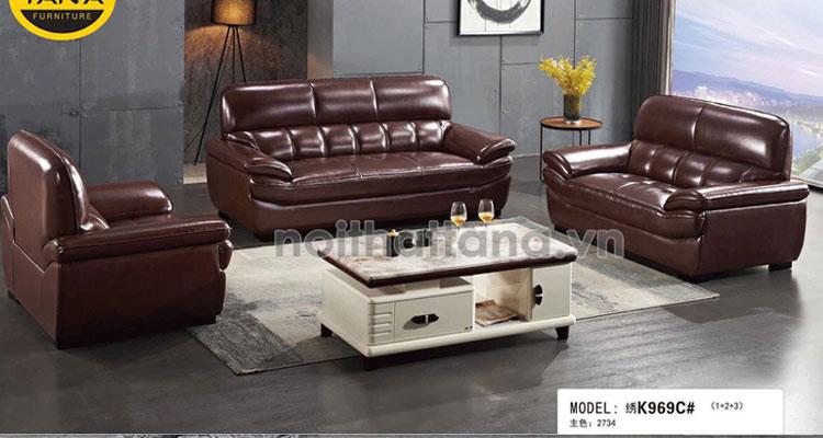 Ghế sofa da văn phòng cao cấp nhập khẩu malaysia