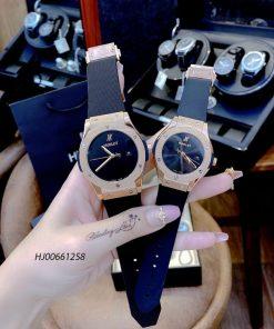 Đồng hồ cặp Hublot Classic Fusion 40 Years Anniversary dây cao su viền Vàng
