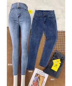 quần jeans nữ cạp cao