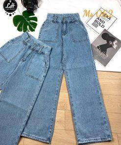 Quần ống rộng nữ quần jeans