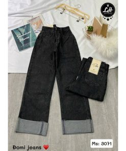 quần jean ống rộng ulzzang xám đen giá rẻ