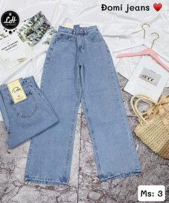 quần jean ống rộng hàn quốc xanh giá rẻ