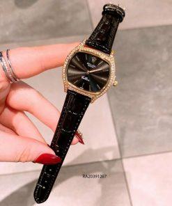 đồng hồ rolex nữ dây da đen