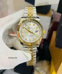 Đồng hồ Rolex nam chạy cơ Automatic dây kim loại mạ vàng