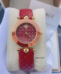 đồng hồ versace nữ dây da hồng