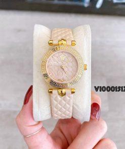 Đồng hồ Versace nữ mini Vanitas màu da máy thụy sĩ like auth