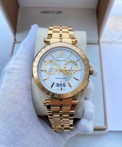 Đồng hồ Nam Versace Aion Chronograph dây kim loại mạ vàng cao cấp