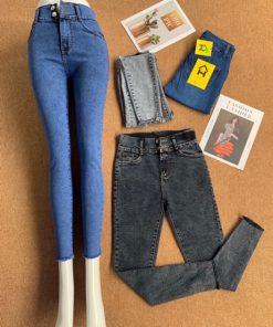 quần jeans nữ lưng cao 2021