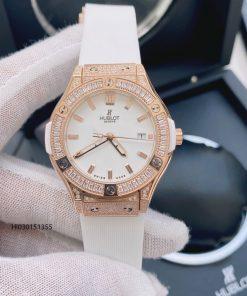 Đồng hồ Nữ Hublot Geneve 582888 Dây Trắng cao cấp