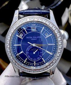 Đồng hồ nam Patek Philippe Complication máy cơ dây da like auth