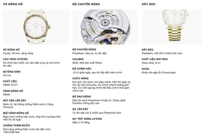 Chất liệu đồng hồ rolex chính hãng là gì