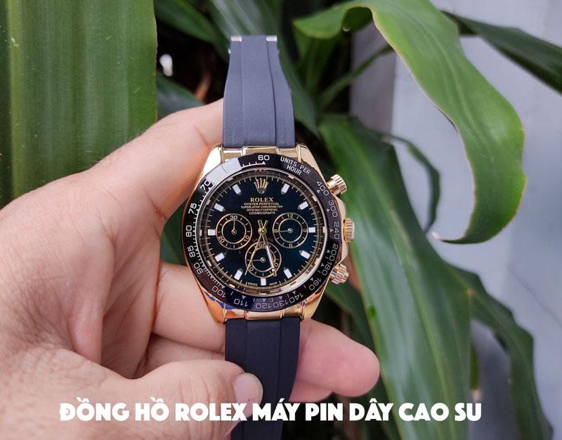 Đồng hồ rolex nam dây cao su thiên nhiên