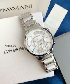 Đồng hồ nam Armani dây kim loại chạy full kim