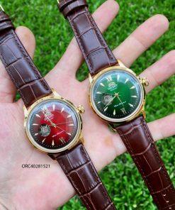Đồng hồ cơ Orient automatic nam lộ máy dây da giá rẻ