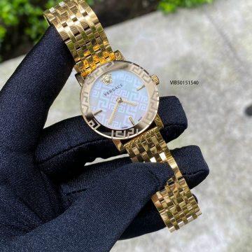 Đồng hồ nữ Versace Greca Glass 2021 dây thép không gỉ mạ pvd